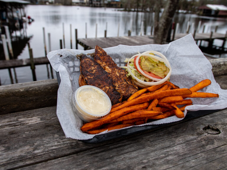 Grilled Chicken Sandwich With Sweet Potato Fries