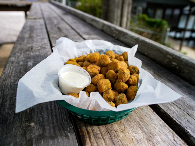 Fried Okra With Ranch