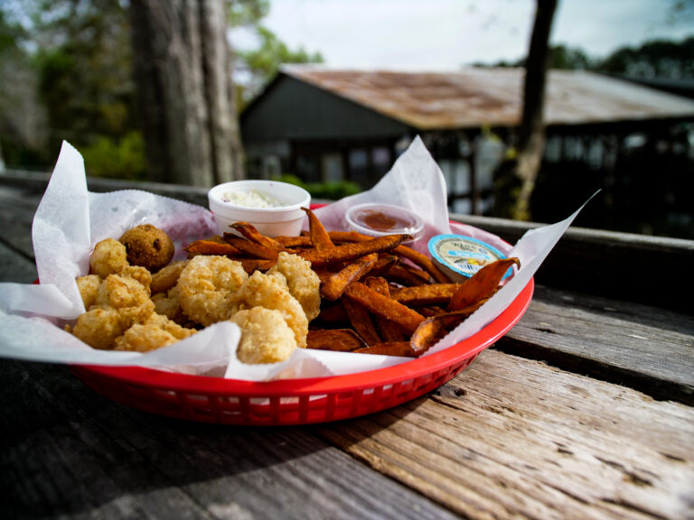 Shrimp Basket With Sweet Potato Fries